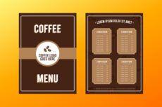 printable coffee shop menu template  download free vectors clipart coffee shop menu template example