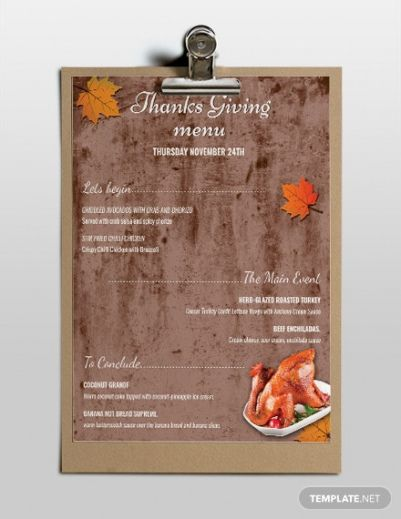 printable free thanksgiving menu template download 120 menus in thanksgiving dinner menu template word