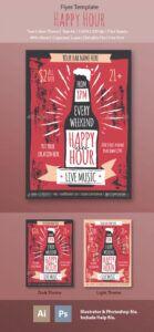 printable happy hour flyer templateme55enjah  graphicriver happy hour menu template pdf