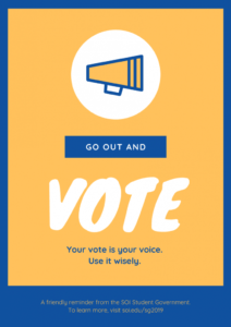 sample 10 techniques to win your student council election with student council campaign poster template word