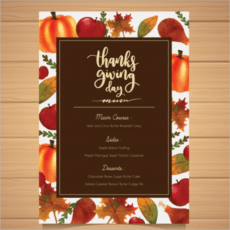 sample 36 thanksgiving menu templates free sample designs thanksgiving dinner menu template