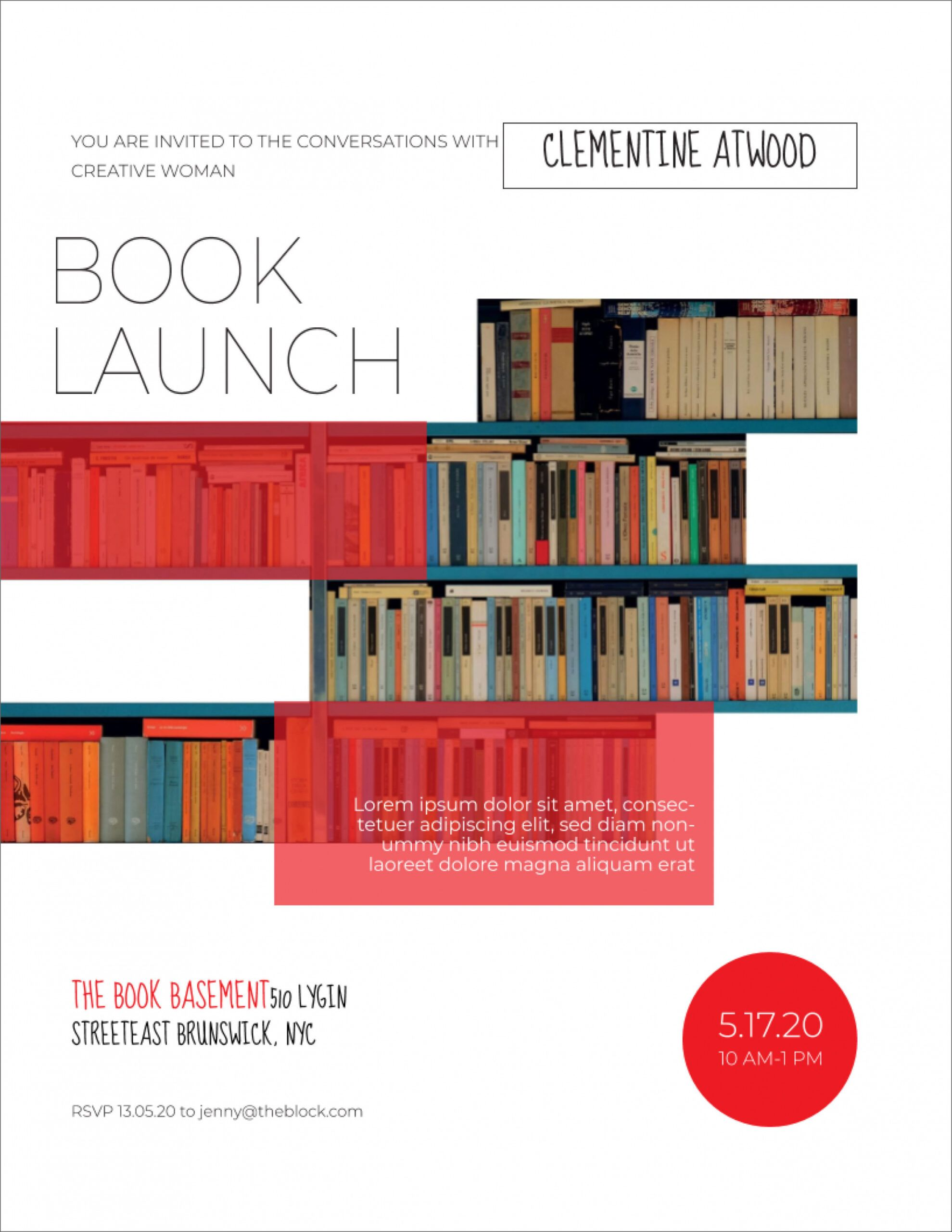 sample 45 free poster and flyer templates  clean simple and book launch poster template pdf