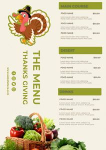 sample 9 thanksgiving menu template psd template free  room thanksgiving dinner menu template
