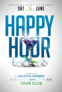 sample classic happy hour drinks flyer happy hour menu template pdf