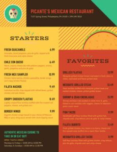 sample customize 21 take out menu templates online  canva carry out menu template