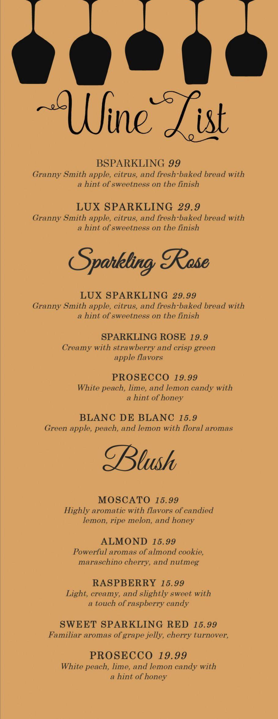 sample design & templates menu templates wedding menu  food snack bar menu template