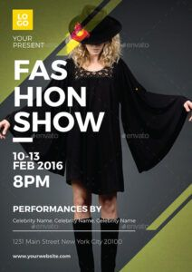 sample fashion show flyervynetta  graphicriver fashion show poster template doc