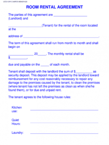 sample room rental agreement template  fill out and sign printable pdf template   signnow room rental application form template pdf