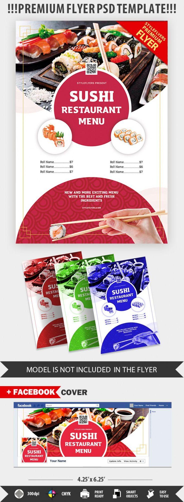 sample sushi restaurant menu psd flyer template 30164  styleflyers soul food menu template pdf