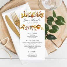 sample thanksgiving dinner menu template fall menu printable thanksgiving dinner menu template
