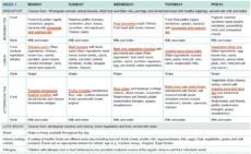 sample twoweek menu for long day care  healthy eating child care food menu template