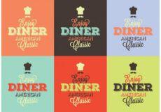 sample typographic 50s diner signs  download free vectors 50s diner menu template pdf