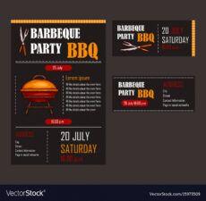 set a bbq menu template royalty free vector image grill menu template doc