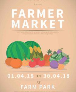 Best Farmers Market Poster Template Doc