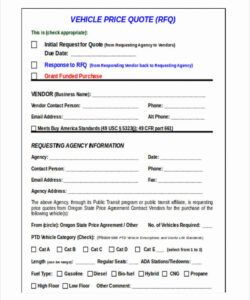 Best Parts Request Form Template Doc