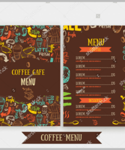 Cafeteria Menu Template Pdf Example