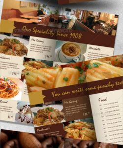 Cafeteria Menu Template Word Sample