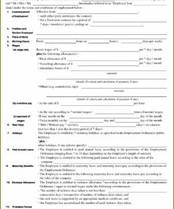 Cleaning Job Application Form Template
