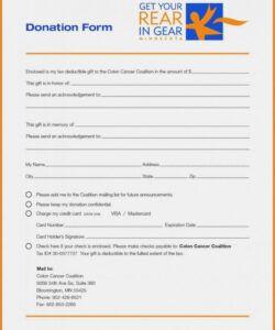 Costum Sponsorship Pledge Form Template Word