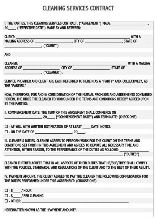 Editable Cleaning Job Application Form Template Word