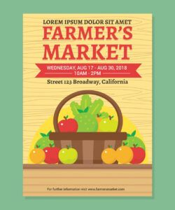 Editable Farmers Market Poster Template  Example
