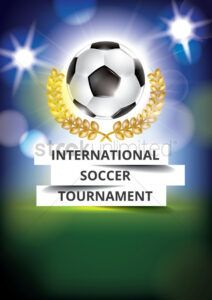 editable international soccer tournament poster design vector image soccer tournament poster template