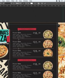 Editable Pizza Menu Design Template Word