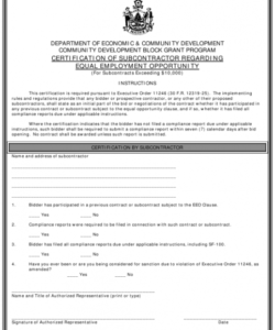 Equal Employment Opportunity Form Template Pdf