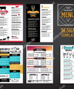 Free Cafeteria Menu Template Pdf Sample