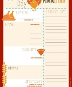 Free Party Planning Menu Template Pdf Sample