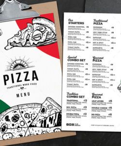 Free Pizza Menu Design Template Doc