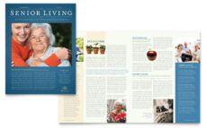 free senior living community tri fold brochure template design assisted living menu template sample