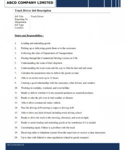 Free Truck Driver Employment Application Form Template Word
