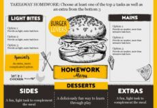 printable editable 'takeaway' homework menu  teachwire teaching takeaway menu template word