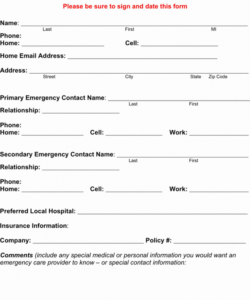 Printable Employee Address Change Form Template Excel Example