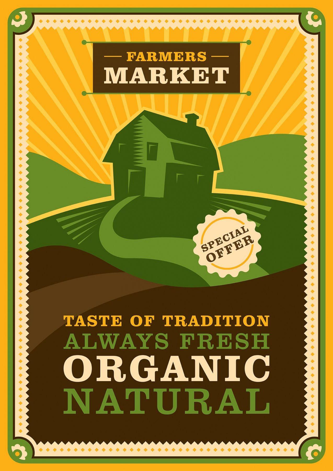 Printable Farmers Market Poster Template Word Sample