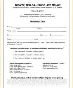 Printable Sponsorship Pledge Form Template Word