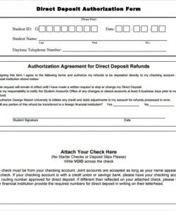 Professional Bank Direct Deposit Form Template Pdf