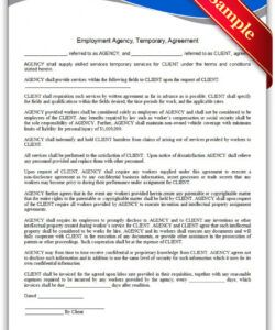 Professional Employment Agency Application Form Template