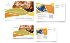 sample assisted living postcard template  word & publisher assisted living menu template