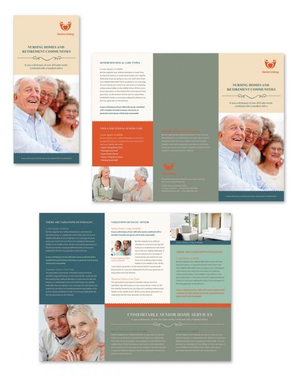 sample senior housing tri fold brochure template assisted living menu template