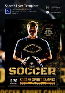 sample soccer flyer template  37 free psd format download soccer tournament poster template