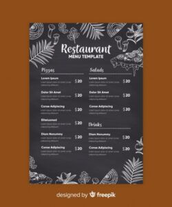 Best Chalkboard Restaurant Menu Template Doc