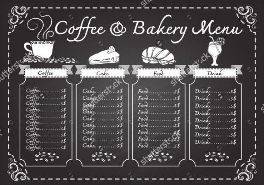 Best Chalkboard Restaurant Menu Template Pdf Sample