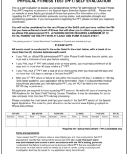 Best Fitness Assessment Form Template Excel Example