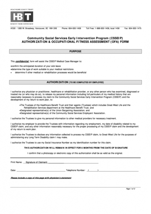 Best Fitness Assessment Form Template Word