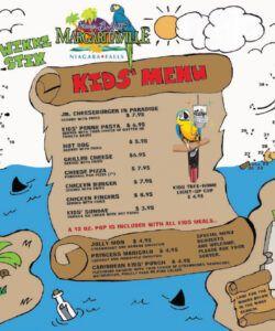 Best Kids Menu Games Template  Sample