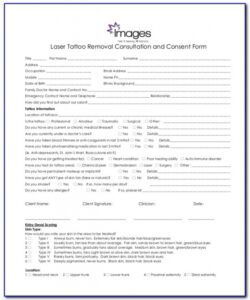 Bridal Makeup Consultation Form Template Word