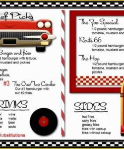 Concession Stand Menu Template Excel