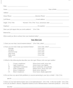 Costum Bridal Makeup Consultation Form Template Pdf Example